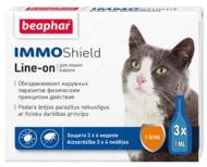 """Капли от блох и клещей для кошек """"IMMO Shield Line-on"""""""