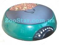 """Электронная автокормушка для кошек и небольших собак """"Pet Mate"""" на 3 кормления, зеленая"""