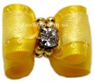 Бантик на резинке желтый  2.5*1,5см