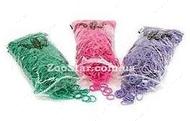 """Резиночки для папильоток """"Фуксия"""", розовые, 1000 штук"""