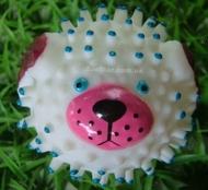"""Игрушка для собак """"Мяч Собачка"""", винил, 8,5 см"""
