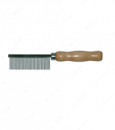 Расческа средний зуб с деревянной ручкой Beauty Line