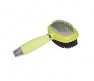 Пуходерка-щетка 2 в 1 силиконовая ручка GlamGel Brush