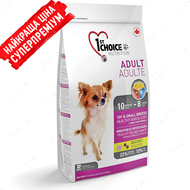 """""""Adult toy & small breeds healthy skin & coat"""" Сухой корм для собак малых и миниатюрных пород, с ягненком и рыбой"""