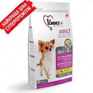 """Сухой корм для собак малых и миниатюрных пород, с ягненком и рыбой """"Adult toy & small breeds healthy skin & coat"""""""