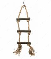 Лесенка веревочная + канат натуральное, дерево Rope Ladder