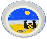 """Керамическая миска  """"Лунный кот"""", 16 см, 200 мл,"""