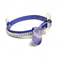 """Ошейник """"Brilliance"""" с украшением """"Полотно Стразы"""" для маленьких собак, синий"""