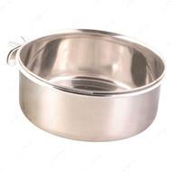Миска металлическая подвесная с держателем Stainless Steel Bowl with Holder