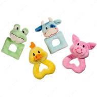 """""""Puppy Toy"""" кольцо игрушка для щенков и собак малых пород, лягушка, бычок, свинка, цыпленок"""