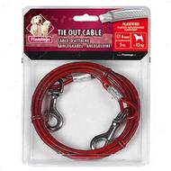 поводок для собак, металлический трос в пластиковой оплетке - Tie Out Cable