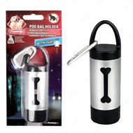 """""""BAG HOLDER+LED"""" контейнер с фонариком для пакетов сбора фекалий собак"""