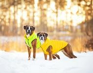 Курточка двухсторонняя, салатово-желтая
