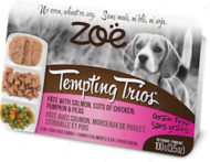 """""""Tempting Trios"""" консервированный корм для собак на основе мяса курицы и лосося"""