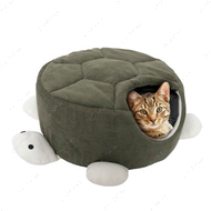 """TURTLE GREEN"" спальное место домик для кошек, в виде черепахи, ,"