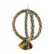 Игрушка качеля для попугаев - 2 канатных кольца