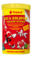 KOI&GOLDFISH COLOUR STICKS это полноценный плавающий усиливающий окраску корм