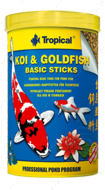 KOI&GOLDFISH BASIC STICKS основной корм для всех прудовых рыб
