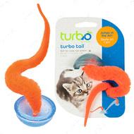 КОСТАЛ ТУРБО интерактивная игрушка для котов, прыгающая, оранжевый хвост в полусфере Turbo Tail Pop Up
