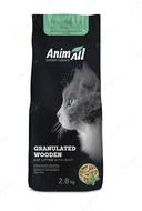 Древесный наполнитель с ароматом мяты для котов AnimAll