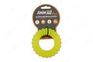 Игрушка для собак жевательное кольцо с шипами желтое AnimAll Fun