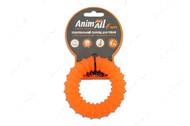 Игрушка для собак жевательное кольцо с шипами оранжевое AnimAll Fun