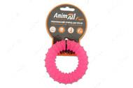 Игрушка для собак жевательное кольцо с шипами коралловое AnimAll Fun