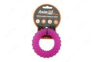 Игрушка для собак жевательное кольцо с шипами фиолетовое AnimAll Fun