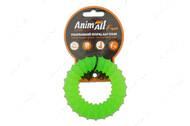 Игрушка для собак жевательное кольцо с шипами зеленое AnimAll Fun