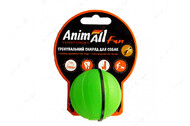 Игрушка для собак мяч тренировочный зеленый AnimAll Fun