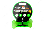 Светоотражающая игрушка для собак кость зеленая AnimAll Fun