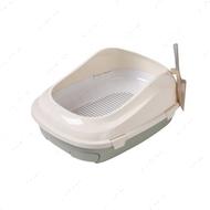 Туалет для котов под наполнитель с сеткой оливковый AnimAll
