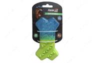 Охлаждающая игрушка для собак холодная кость сине-зеленая AnimAll GrizZzly 9680