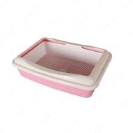Туалет для котов под наполнитель с сеткой розовый AnimAll