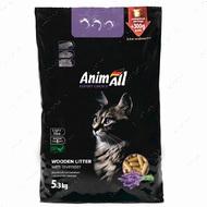 Древесный наполнитель с ароматом лаванды для котов AnimAll