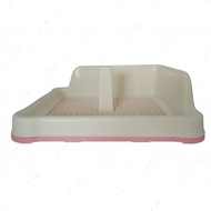 Туалет для собак с решеткой, столбиком и защитной стенкой розовый AnimAll