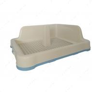 Туалет для собак с решеткой, столбиком и защитной стенкой голубой AnimAll