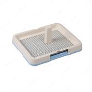 Туалет для собак с решеткой, столбиком голубой AnimAll