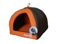 Домик для собак и кошек серо-оранжевый AnimAll Wendy M
