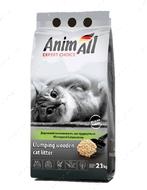 Комкующийся древесный наполнитель для котов AnimAll
