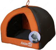 Домик для собак серо-оранжевый AnimAll Wendy S