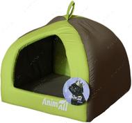 Домик для собак и кошек серо-салатовый AnimAll Wendy S