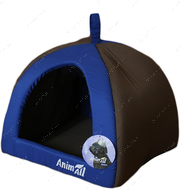 Домик для собак и кошек серо-голубой AnimAll Wendy S