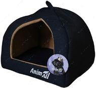 Домик для собак и кошек темно-синий AnimAll Piter M