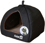 Домик для собак и кошек серый AnimAll Piter S