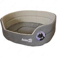 Лежак для собак и котов серо-бежевый AnimAll Alice Velvet 1