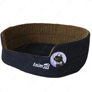 Лежак для собак и котов сине-коричневый AnimAll Alice Velvet 1