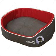 Лежак для собак и котов серо-красный AnimAll Aurora 1