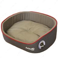 Лежак для собак и котов серо-бежевый AnimAll Aurora 1