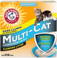 Комкующийся наполнитель для нескольких кошек без аромата ARM & HAMMER™ Multi-Cat Strength Clumping Litter, Unscented